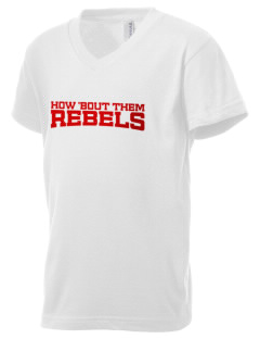Riverside High School Rebels Kid's V-Neck Jersey T-Shirt