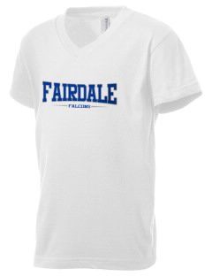 Fairdale Elementary School Falcons Kid's V-Neck Jersey T-Shirt