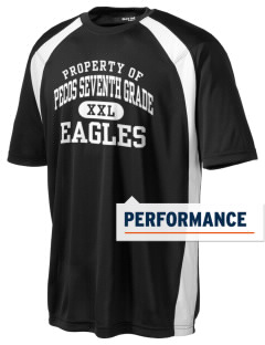 Pecos Seventh Grade School Eagles Men's Dry Zone Colorblock T-Shirt