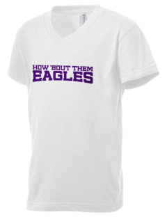 Pecos Seventh Grade School Eagles Kid's V-Neck Jersey T-Shirt
