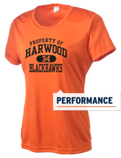 Harwood Junior High School Blackhawks Women's Competitor Performance T-Shirt
