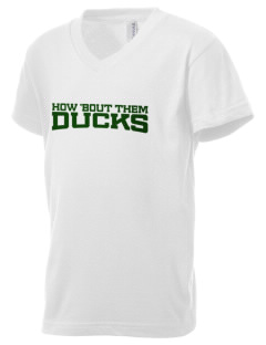 Taylor High School Ducks Kid's V-Neck Jersey T-Shirt