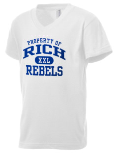 Rich High School Rebels Kid's V-Neck Jersey T-Shirt