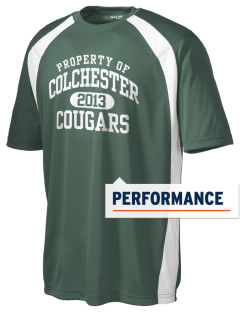 Colchester Middle School Cougars Men's Dry Zone Colorblock T-Shirt