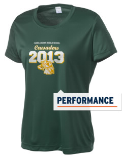 Camels Hump Middle School Crusaders Women's Competitor Performance T-Shirt