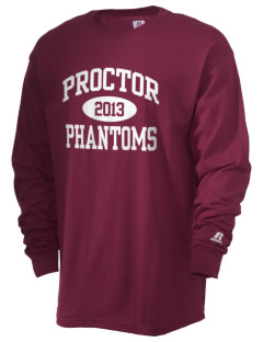 Proctor Elementary School Phantoms  Russell Men's Long Sleeve T-Shirt