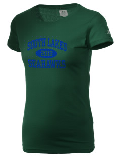 South Lakes High School Seahawks  Russell Women's Campus T-Shirt