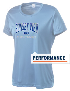 Sunset View Elementary School Mustangs Women's Competitor Performance T-Shirt