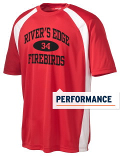 River's Edge High School Firebirds Men's Dry Zone Colorblock T-Shirt