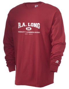 R.A. Long High School Lumberjacks  Russell Men's Long Sleeve T-Shirt