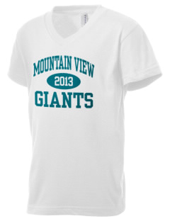Mountain View Elementary School Giants Kid's V-Neck Jersey T-Shirt