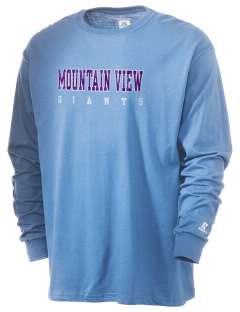 Mountain View Elementary School Giants  Russell Men's Long Sleeve T-Shirt