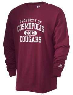 Cosmopolis Elementary School Cougars  Russell Men's Long Sleeve T-Shirt