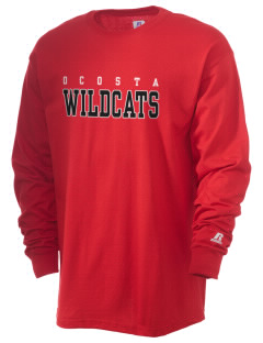 Ocosta Elementary School Wildcats  Russell Men's Long Sleeve T-Shirt