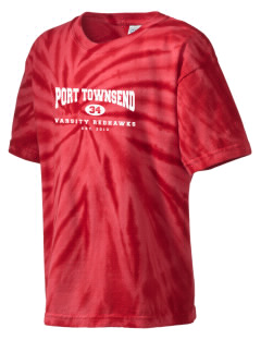 Port Townsend Senior High School Redskins Kid's Tie-Dye T-Shirt