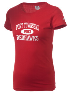 Port Townsend Senior High School Redskins  Russell Women's Campus T-Shirt