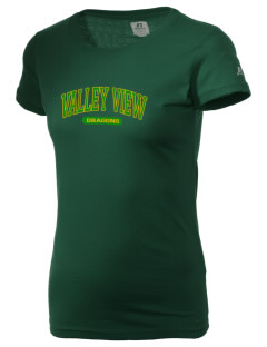 Valley View Elementary School Dragons  Russell Women's Campus T-Shirt