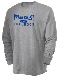 Briar Crest Elementary School Bulldogs  Russell Men's Long Sleeve T-Shirt