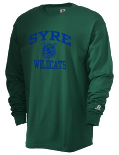 Syre Elementary School Wildcats  Russell Men's Long Sleeve T-Shirt