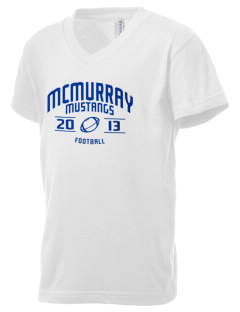 McMurray Middle School Mustangs Kid's V-Neck Jersey T-Shirt