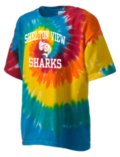 Shelton View Elementary School Sharks Kid's Tie-Dye T-Shirt