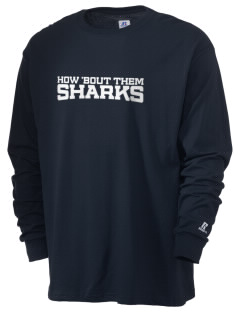 Shelton View Elementary School Sharks  Russell Men's Long Sleeve T-Shirt
