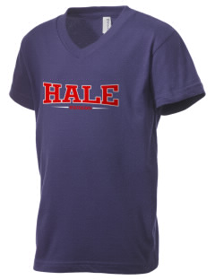 Nathan Hale High School Raiders Kid's V-Neck Jersey T-Shirt