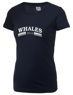 Graham Hill Elementary School Whales  Russell Women's Campus T-Shirt