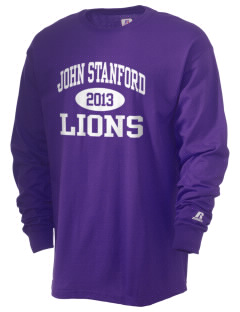 John Stanford International School Lions  Russell Men's Long Sleeve T-Shirt