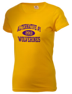 Alternative School #1 Wolverines  Russell Women's Campus T-Shirt