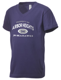 Arbor Heights Elementary School Jr Seahawks Kid's V-Neck Jersey T-Shirt
