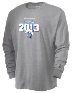 Denny Middle School Dolphins  Russell Men's Long Sleeve T-Shirt