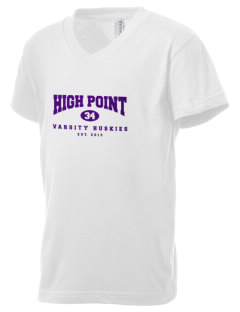 High Point Elementary School Huskies Kid's V-Neck Jersey T-Shirt
