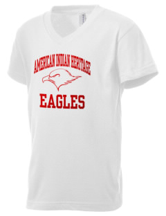 American Indian Heritage School Eagles Kid's V-Neck Jersey T-Shirt