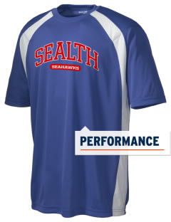 Sealth High School Seahawks Men's Dry Zone Colorblock T-Shirt