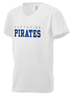 Southside Elementary School Pirates Kid's V-Neck Jersey T-Shirt