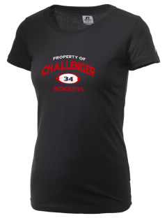 Challenger Middle School Rockets  Russell Women's Campus T-Shirt