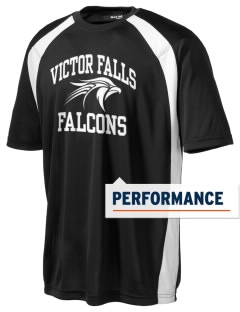 Victor Falls Elementary School Falcons Men's Dry Zone Colorblock T-Shirt