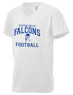 Victor Falls Elementary School Falcons Kid's V-Neck Jersey T-Shirt