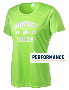 Sunset Elementary School Falcons Women's Competitor Performance T-Shirt