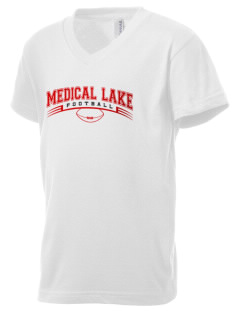 Medical Lake Elementary School Cougar Cubs Kid's V-Neck Jersey T-Shirt