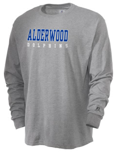 Alderwood Elementary School Dolphins  Russell Men's Long Sleeve T-Shirt