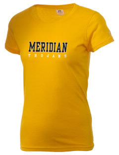 Meridian High School Trojans  Russell Women's Campus T-Shirt