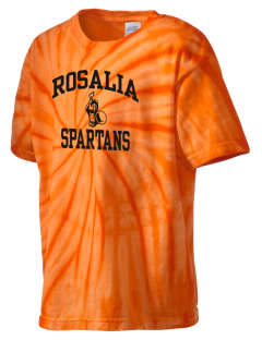 Rosalia School Spartans Kid's Tie-Dye T-Shirt