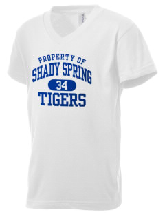 Shady Spring Elementary School Tigers Kid's V-Neck Jersey T-Shirt