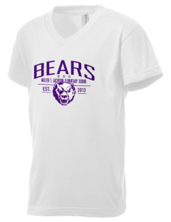 Walter E Jacobson Elementary School Bears Kid's V-Neck Jersey T-Shirt