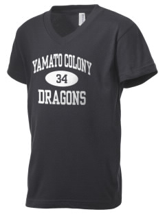 Yamato Colony Elementary School Dragons Kid's V-Neck Jersey T-Shirt
