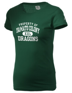 Yamato Colony Elementary School Dragons  Russell Women's Campus T-Shirt