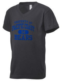 Pacific Coast High School Bears Kid's V-Neck Jersey T-Shirt