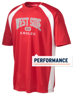West Side High School Eagles Men's Dry Zone Colorblock T-Shirt